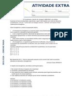 ATAIVIDADE EXTRA - BIOCTENOLOGIA - 1ª SÉRIE (2012)