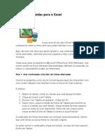 Três dicas rápidas para o Excel