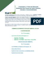 Folder Seminário de Educação Ambiental SC