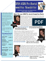 Pre-Dental Fall 2011 Newsletter