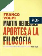 Franco Volpi - Martin Heidegger, aportes a la filosofía
