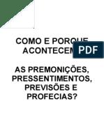 50 - Premonições, Pressentimentos e Previsões - (Apostila -