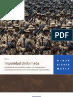 Impunidad Uniformada en Mexico HRW