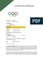 JUEGOS OLÍMPICOS DE LONDRES 2012