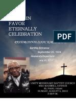 Pastor O. I. Kirk, Sr D.D LIFE Celebration Book
