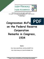 6220961 Congressman McFadden on the Federal Reserve Corporation Remarks in Congress 1934