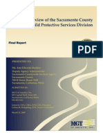 Review of the Sacramento County Child Protective Services Division MGT (Mar 2009)