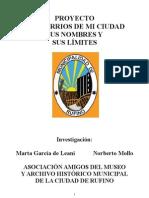 Proyecto Los Barrios de mi Ciudad, sus nombres y sus límites