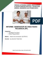 Informe Generador de Onda de Radio Frecuencia
