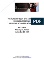 Bonfiglio Forclosure Defense-9!25!09