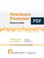 Foreclosure Prevention Resource Guide Summer_Fall 2010