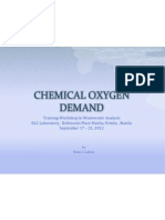 Chemical Oxygen Demand 2012