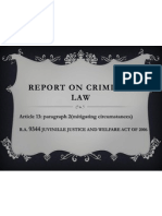 Report on Criminal Law