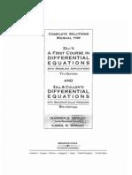 Solucionario Ecuaciones Diferenciales - ZillCullens 5th Solution