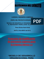 Propuesta de Modificacoin de Estructura Organica Para La Empresa Elepco s.A