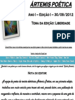 Artemis Poetica - 1a. Edição - Setembro de 2012