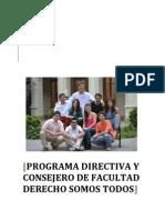 Programa Directiva y Consejero Derecho Somos Todos 2013