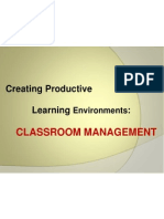 Classroom Management II