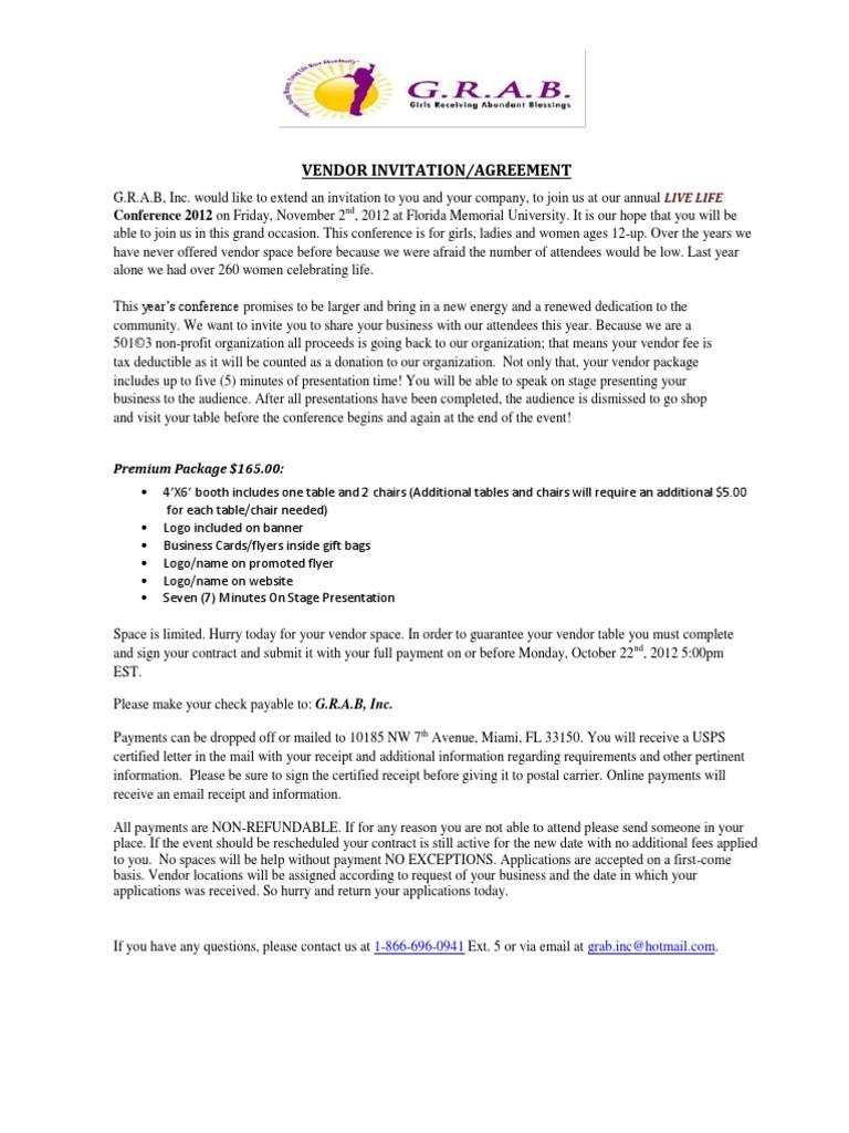 Vendor invitation letter mail email stopboris Images