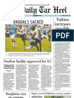 The Daily Tar Heel for October 1, 2012