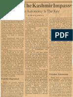Breaking the Kashmir Impasse