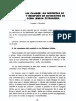 TECNICAS PARA EVALUAR LAS DESTREZAS DE PRODUCCIÓN Y RECEPCION EN ESTUDIANTES DE ESPAÑOL COMO LENGUA EXTRANJERA