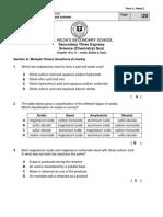 Sec 3Exp Quiz III - Chapter 10 & 11