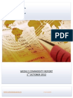 WEEKLY COMMODITY REPORT BY EPIC RESEARCH- 1 OCTOBER 2012