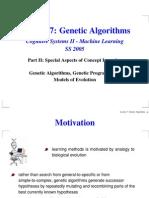 Lecture 7 Genetic Algorithms