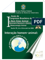 Anais Do I Congresso de Bioetica e Bem-Estar Animal