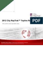 2012 City Reputation