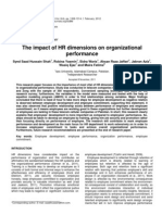Impact of Hr Dimensions on Org Performance