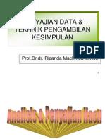 Tekhnik Pengambilan Kesimpulan & Penyajian Data