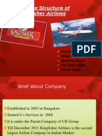 Service Structure of Kingfisher Airlines
