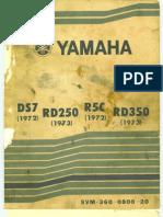 Yamaha RD250-350 1972-1973 Service Manual