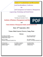International Research Conference at Pune 2012