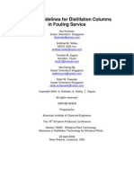 Design Guideline for Fouling Service Column