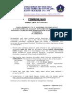 Pengumuman Hasil Uj Tulis Sipenmaru D4 Keprwtn Anak & KMB- 4 Sept 2012