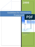 Guidelines for Automation Framework