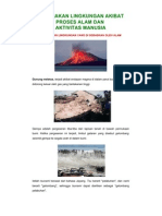 Kerusakan Lingkungan Akibat Proses Alam Dan