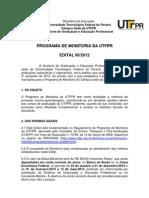 EDITAL 06 - MONITORIA - 2º semestre 2012