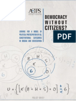 Democracy Without Citizens?
