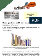 Metro Quadrado Na PB Sobe Mais de 200% Em Menos de Sete Anos
