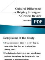Cross-Cultural Differences in Helping Strangers