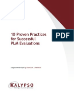 10 Proven Practices for Successful PLM Evaluations