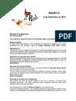Boletín de correo real de las mariposas monarca. Temporada 2012-2013