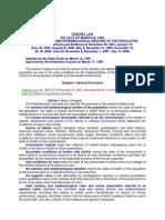 Federa Law No 52-Fz Sanitary and Epidemiological Welfare