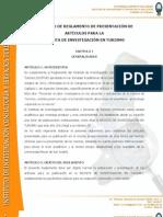Proyecto de Reglamento Publicacion de Articulos