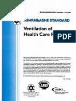 ASHRAE STandard 170-2008 (Ventilation of Health Care Facilities)