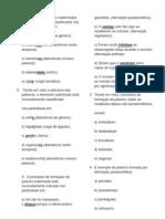 Exercicio de estrutura e formação das palavras